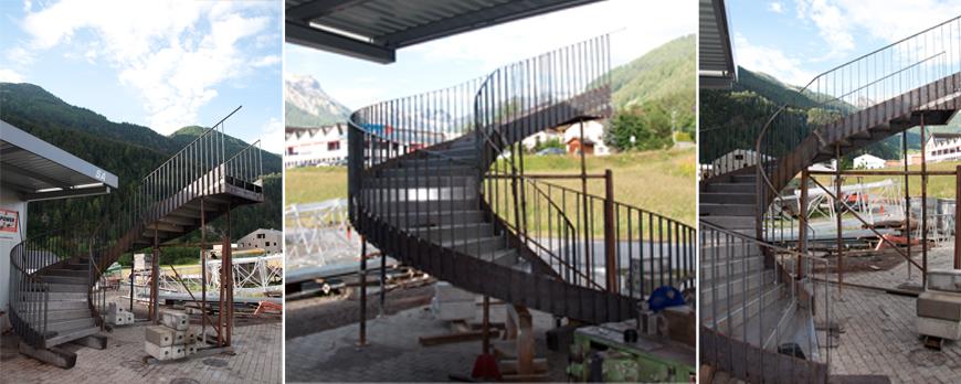 Wendeltreppe aus Stahl